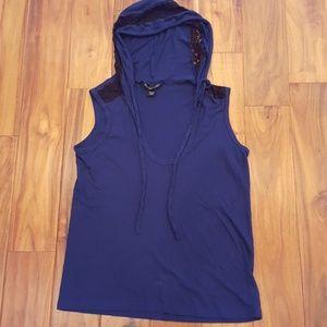 VS Hooded Lace Trim  Knit Tank